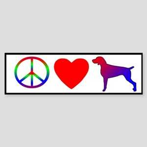 Peace, Love, Weimaraner Bumper Sticker