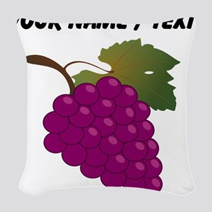 Custom Purple Grapes Woven Throw Pillow