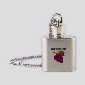 Custom Purple Grapes Flask Necklace