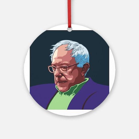 Bernie Sanders -col Round Ornament