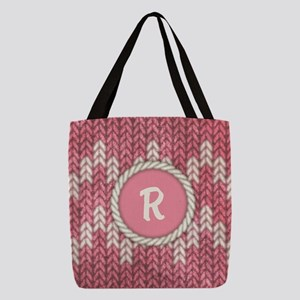 MONOGRAM Knit Graphic Pink Polyester Tote Bag