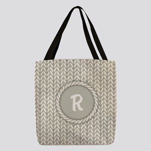 MONOGRAM Knit Graphic White Polyester Tote Bag