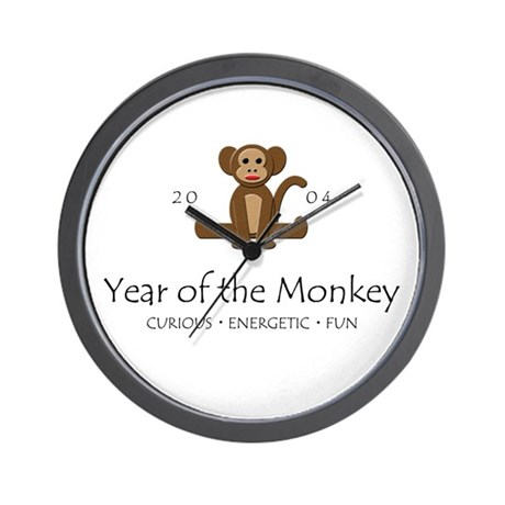 """""""Year of the Monkey"""" [2002] Wall Clock"""