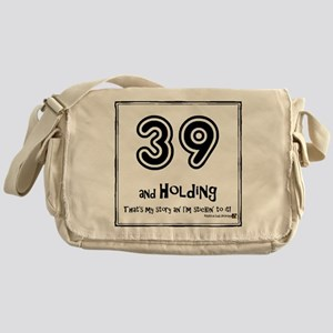 39AHC Thats My Story-Black Messenger Bag