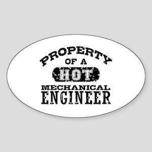 Mechanical Engineer Sticker (Oval)