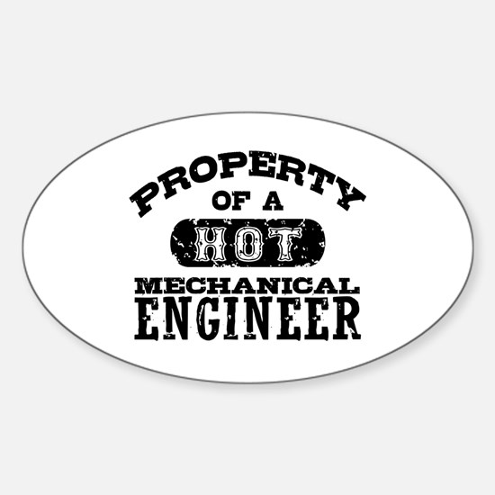 Mechanical Engineer Sticker (Oval)