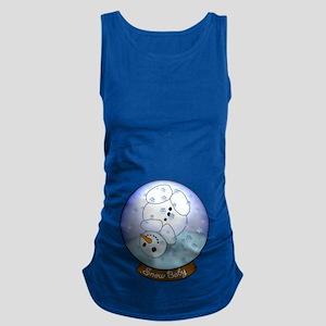 Frosty Snow Globe Maternity Tank Top