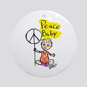 Peace Baby Ornament (Round)