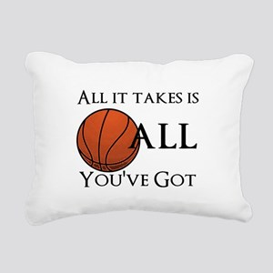 All It Takes Rectangular Canvas Pillow