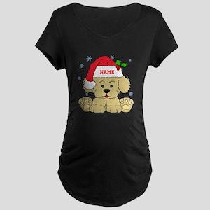 Christmas Puppy Maternity T-Shirt