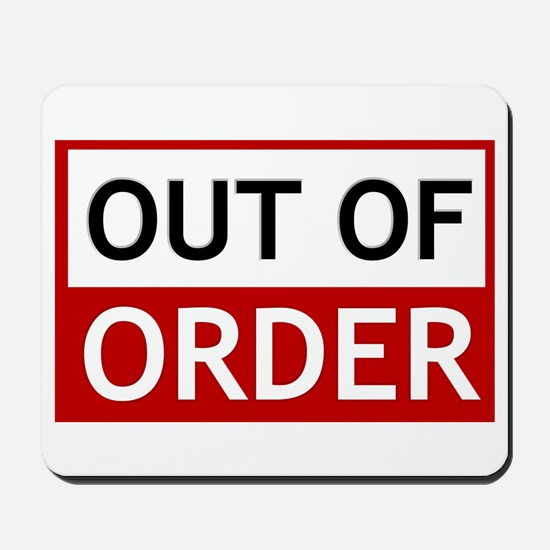 Out Of Order Sign TBBT Mousepad