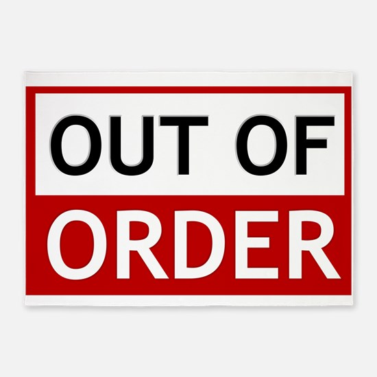 Out Of Order Sign TBBT 5'x7'Area Rug