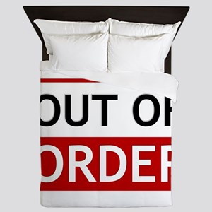 Out Of Order Sign TBBT Queen Duvet