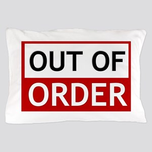 Out Of Order Sign TBBT Pillow Case