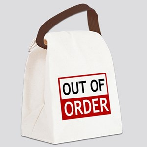 Out Of Order Sign TBBT Canvas Lunch Bag