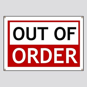 Out Of Order Sign TBBT Banner