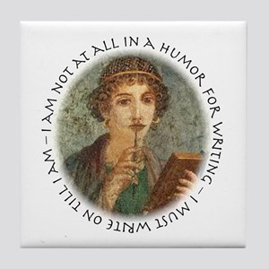 Roman Writing Tile Coaster
