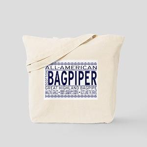 All American Bagpiper Tote Bag