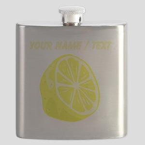Custom Sliced Lemon Flask