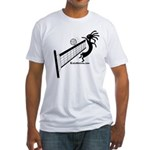 Kokopelli Volleyball Player Fitted T-Shirt