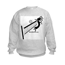 Kokopelli Volleyball Player Kids Sweatshirt