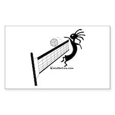 Kokopelli Volleyball Player Rectangle Sticker