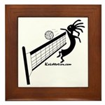 Kokopelli Volleyball Player Framed Tile