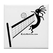Kokopelli Volleyball Player Tile Coaster