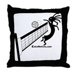 Kokopelli Volleyball Player Throw Pillow