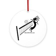 Kokopelli Volleyball Player Ornament (Round)