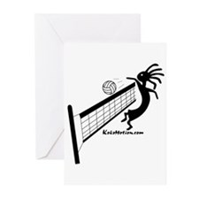 Kokopelli Volleyball Player Greeting Cards (Packag