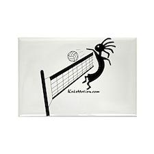 Kokopelli Volleyball Player Rectangle Magnet