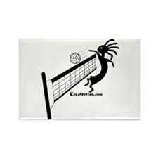 Kokopelli Volleyball Player Rectangle Magnet (10 p