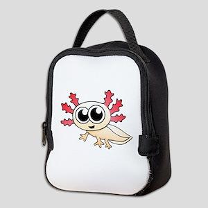 Cartoon Axolotl Neoprene Lunch Bag
