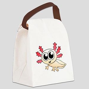 Cartoon Axolotl Canvas Lunch Bag