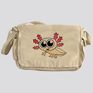 Cartoon Axolotl Messenger Bag