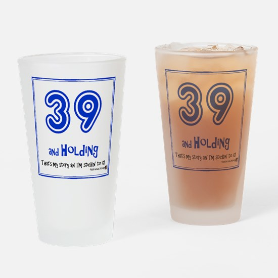 39AHC Thats My Story-Blue Drinking Glass