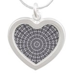 Pattern 1006 Silver Heart Necklace