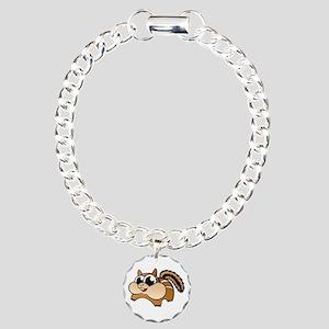 Cartoon Chipmunk Charm Bracelet, One Charm