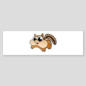 Cartoon Chipmunk Bumper Sticker
