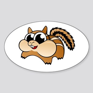 Cartoon Chipmunk Sticker