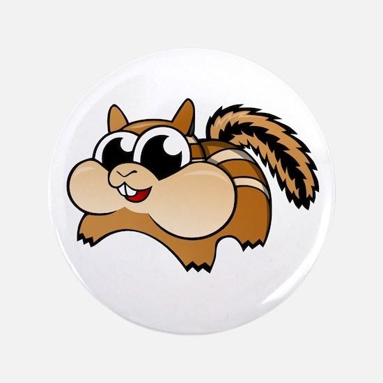 """Cartoon Chipmunk 3.5"""" Button"""