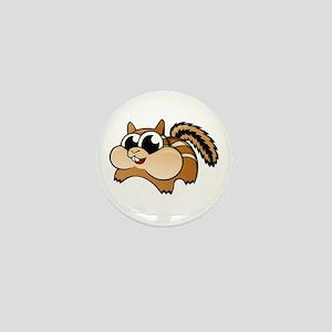 Cartoon Chipmunk Mini Button