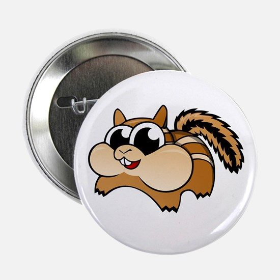 "Cartoon Chipmunk 2.25"" Button"