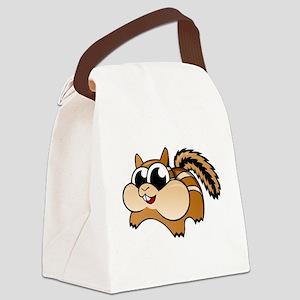 Cartoon Chipmunk Canvas Lunch Bag