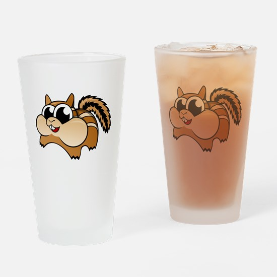 Cartoon Chipmunk Drinking Glass