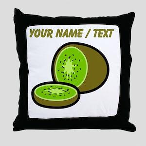 Custom Kiwi Throw Pillow