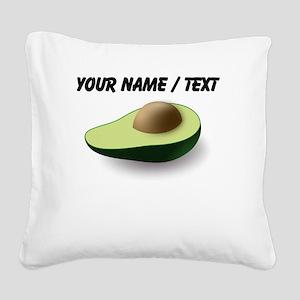 Custom Avocado Square Canvas Pillow