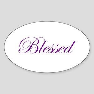 Purple Believe Oval Sticker