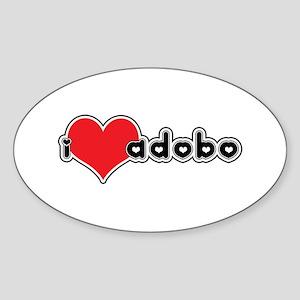 """I Love Adobo"" Oval Sticker"
